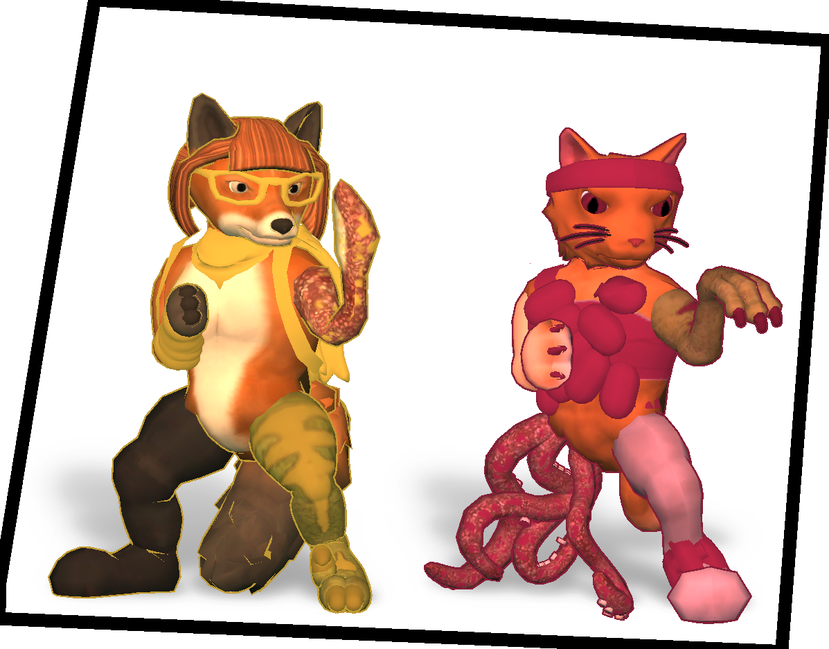 The cat and the fox characters